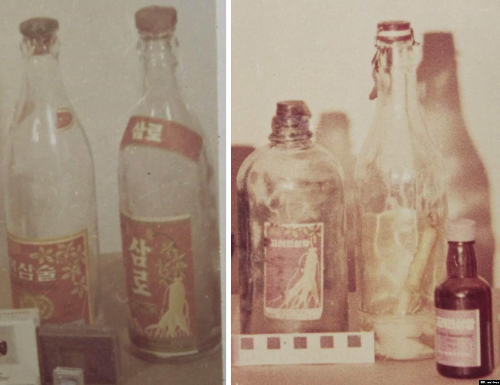 Бутылки из-под подаренных корейцами женьшеневой водки и экстракта. Фото из уголовного дела