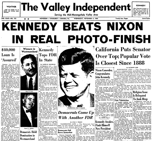 Billedresultat for nixon wins 1960 election