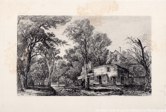 Sketch by Eliza Greatorex in Old New York
