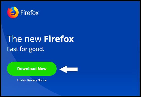 Firefox Download screen
