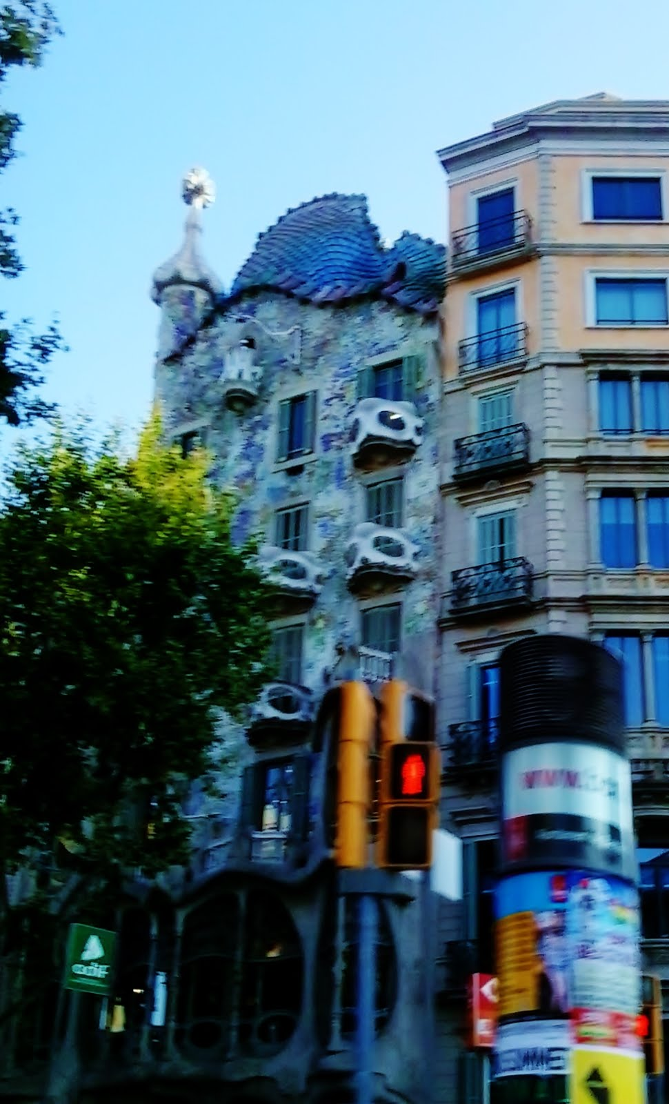 One of Gaudí's famous masterpieces, Casa Batlló, in the shopping boulevard Passeig de Gracia