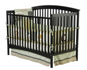 Eden, 4 in 1 Convertible Crib, Black - 664K