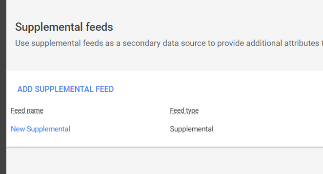 Supplemental feeds