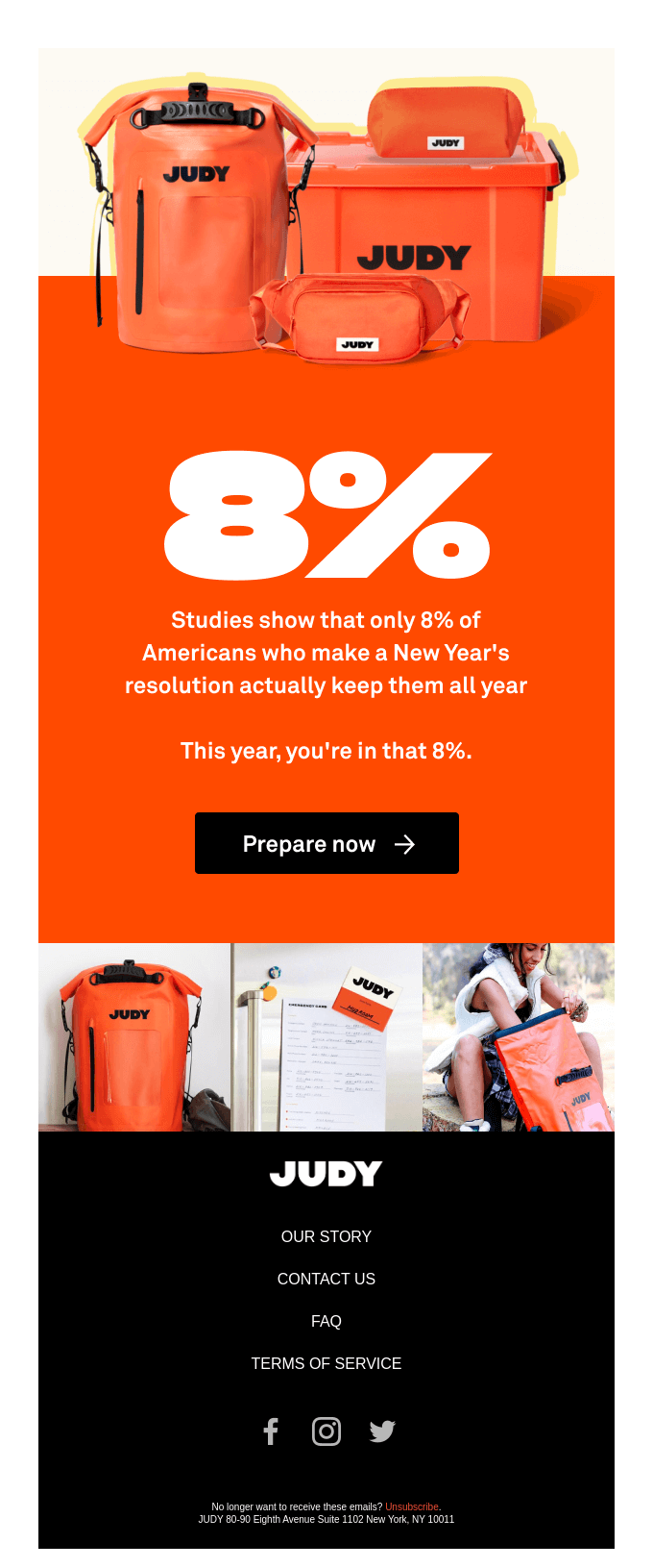 Bold Typography email