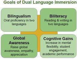 goals of language immersion, goals of dual language