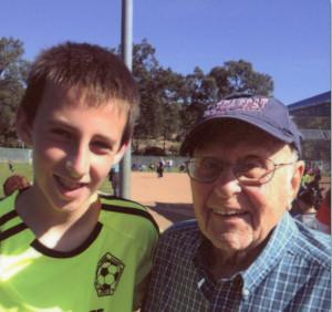 Reggie with grandson Jace Decker, about 2013