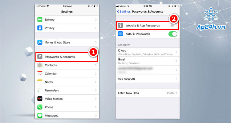 Cần nhập mã bảo mật để vào quản lý mật khẩu