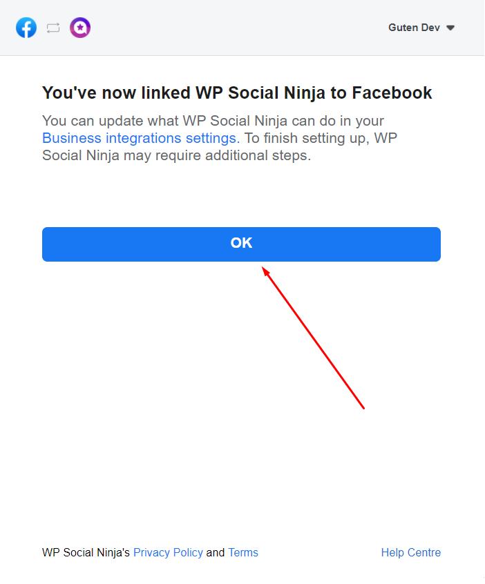 Facebook reviews linked to WP Social Ninja