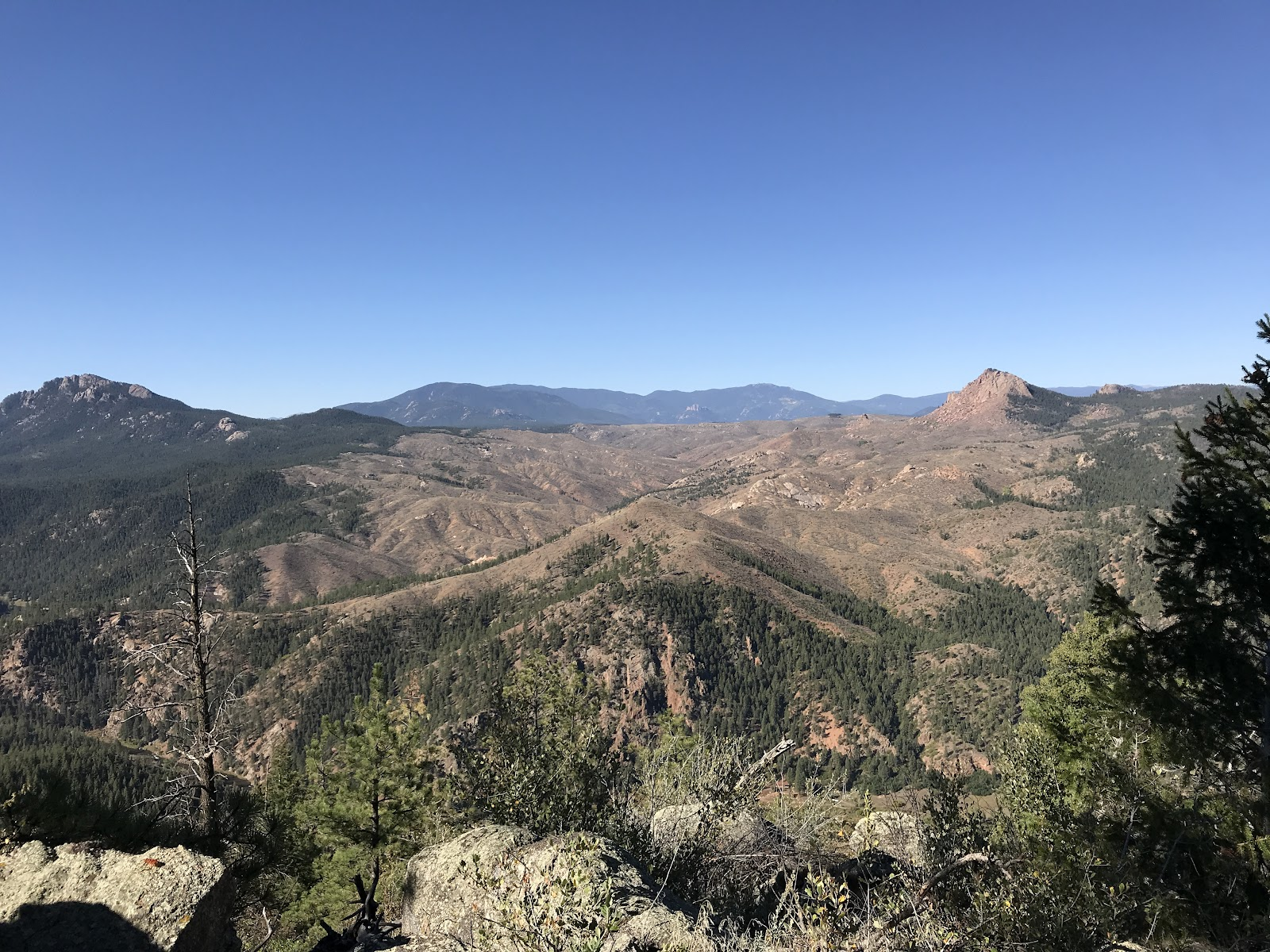 Colorado's beautiful Front Range takes the hiker up 3,500 feet into dry, exposed terrain.