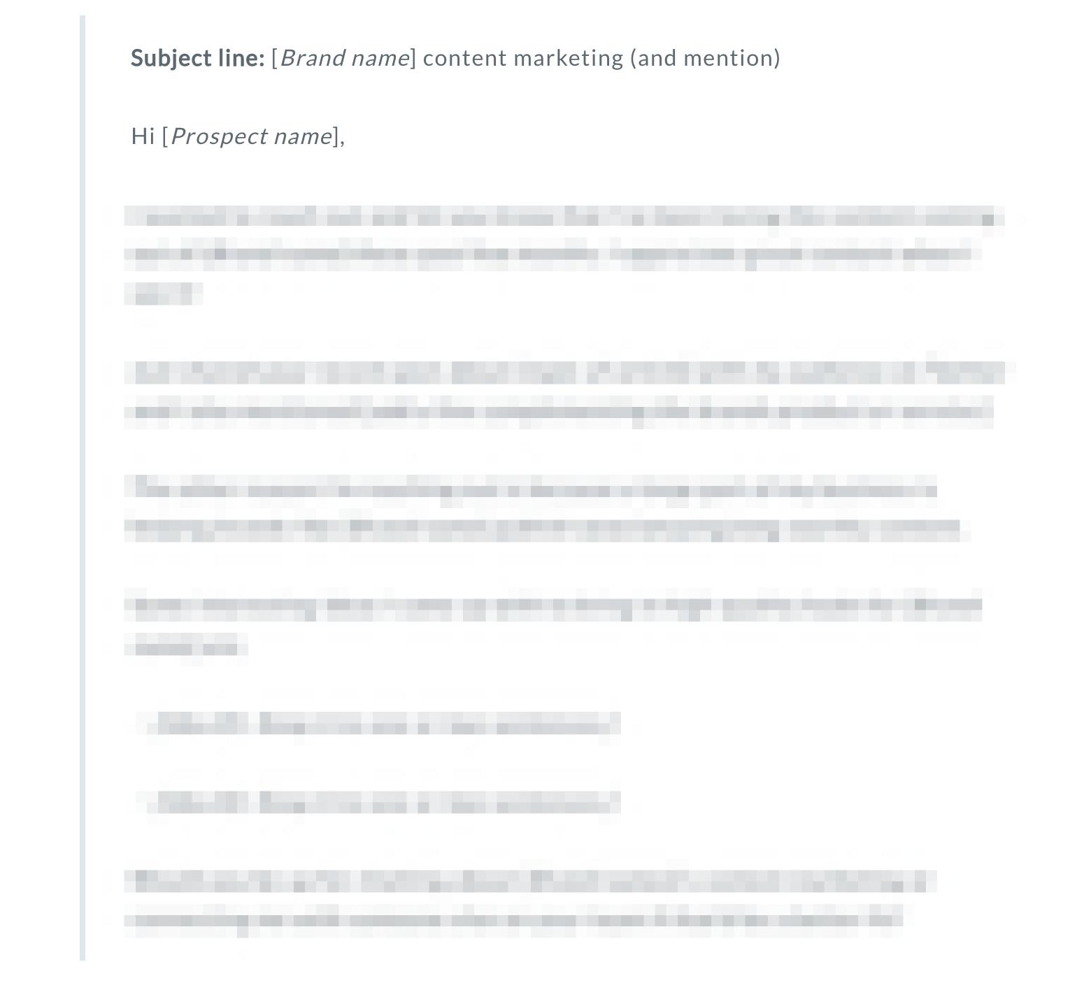 freelance blog pitch template