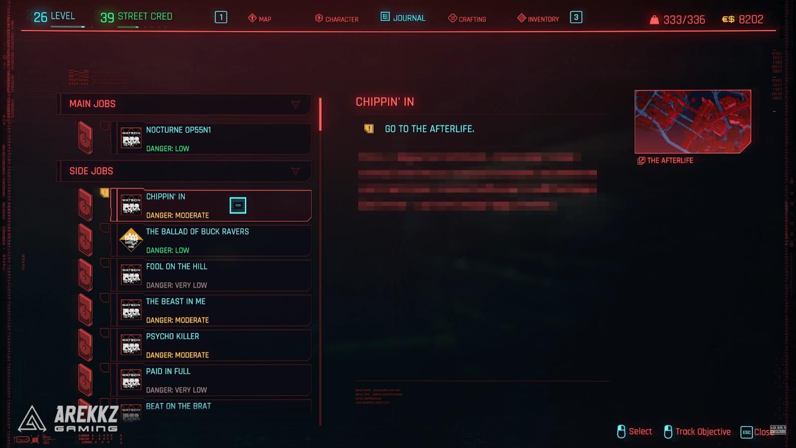cyberpunk 2077 chippin in side mission job