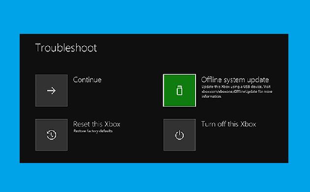 Use Xbox One troubleshooter (Start-Up)