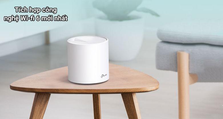 Thiết bị mạng Wifi Mesh 6 TPLink Deco X60 (3-pack)   Tích hợp công nghệ wi-fi hiện đại