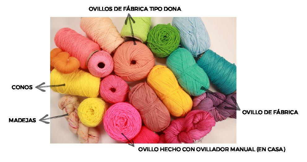 Tipos de presentacion hilos crochet