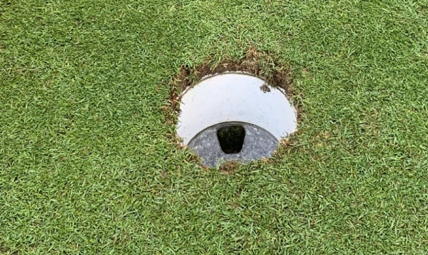 damaged cup hole edge