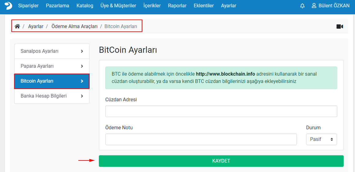 bitcoin adresi açma