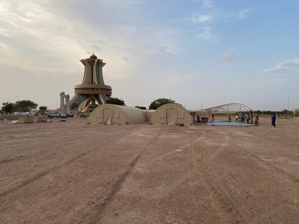 40-bed mobile field hospital from Alaska Structures donated to Burkina Faso.
