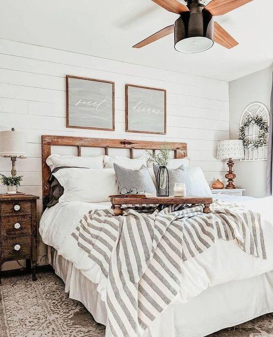 Rustic White Bedroom Ideas