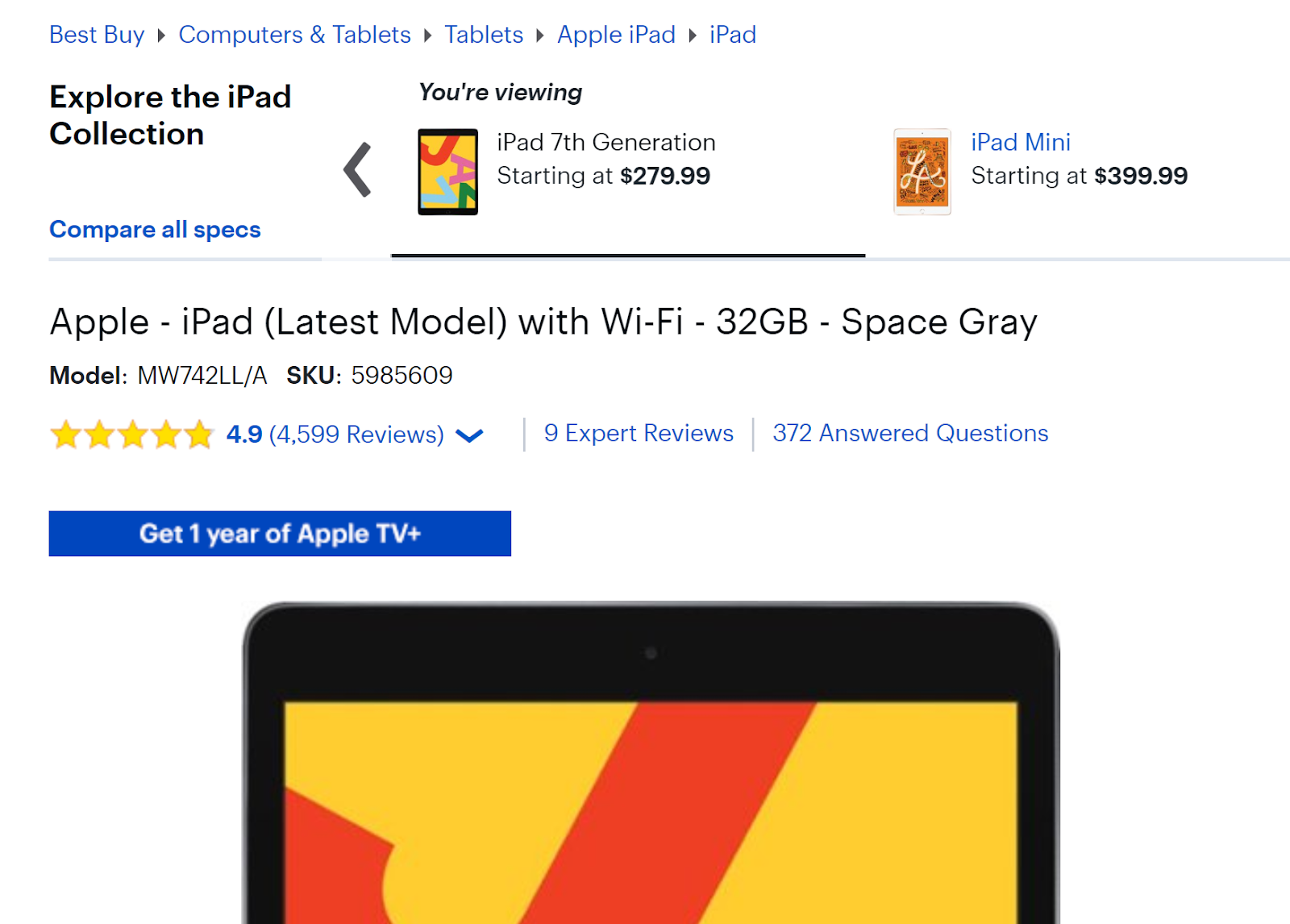 BestBuy product page example