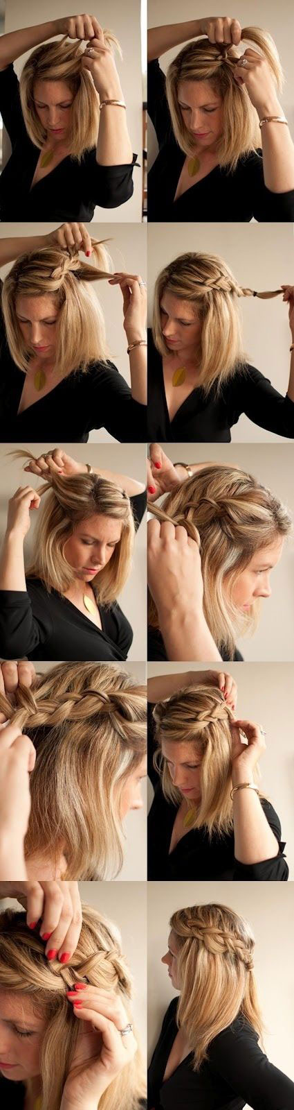 15 Cute and Easy Hairstyle Tutorials For Medium-Length Hair ...