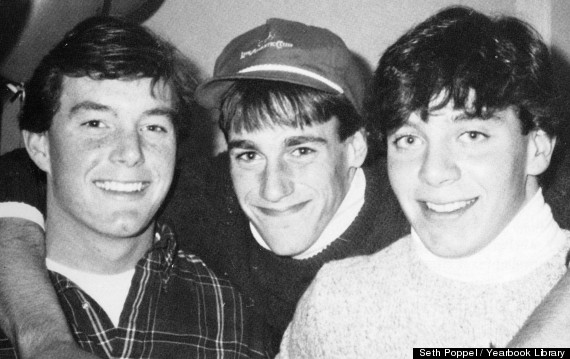 Jon Hamm (middle) in his senior year of high school.
