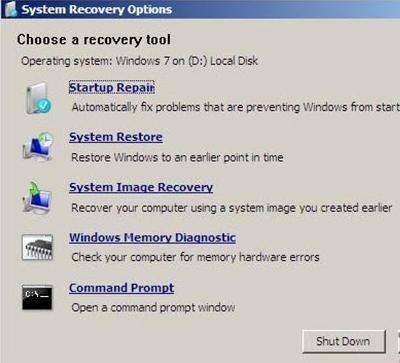 حل مشكلة Missing Operating System