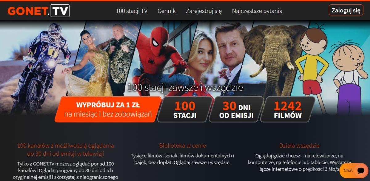 Gonet.tv oferta