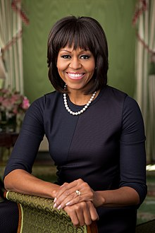Michelle Obama 2013 official portraitjpg