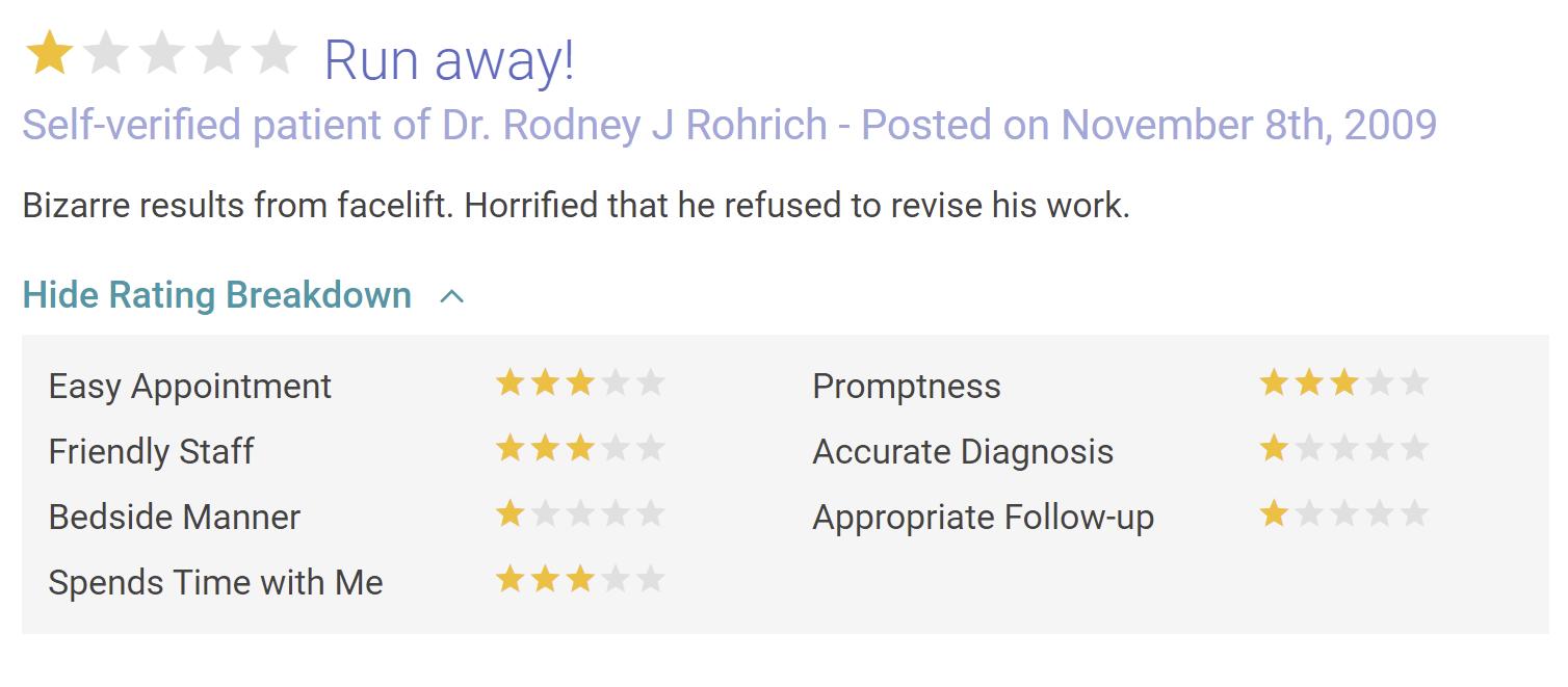 Rod J. Rohrich, MD review