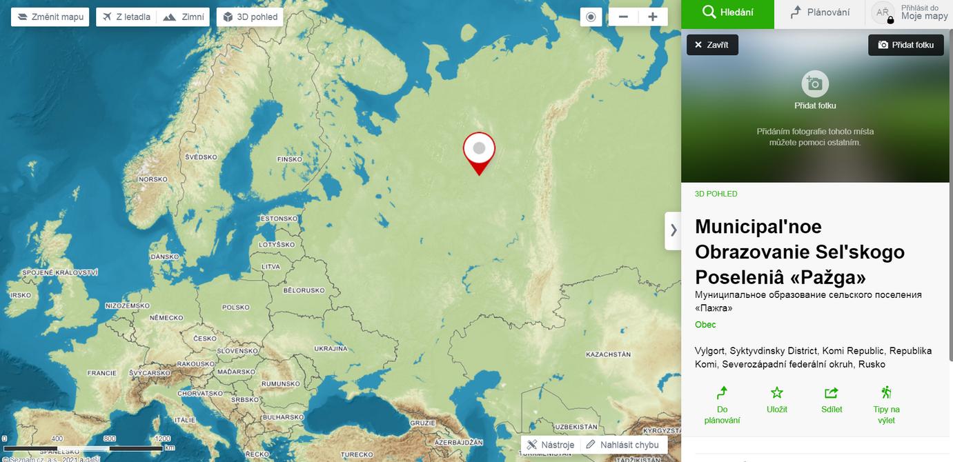 Video pochází z obce Pažga, v Komijské republice, v Ruské federaci.