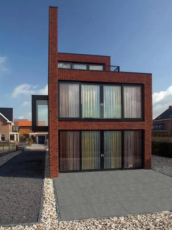 rumah bata merah minimalis