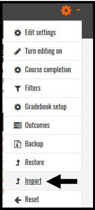 Settings Gear Menu Screenshot
