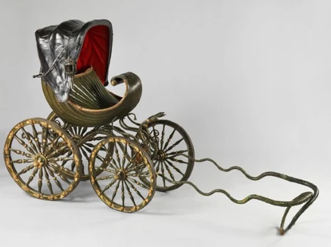 A Horse-Drawn Baby Carriage