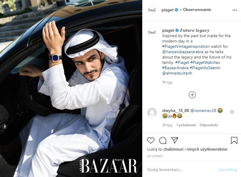 Marketing w branży jubilerskiej - screen posta na Instagramie marki Happy Bazaar Arabia