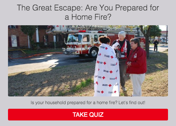 quiz cover for are your prepared for a home fire and Red Cross picture
