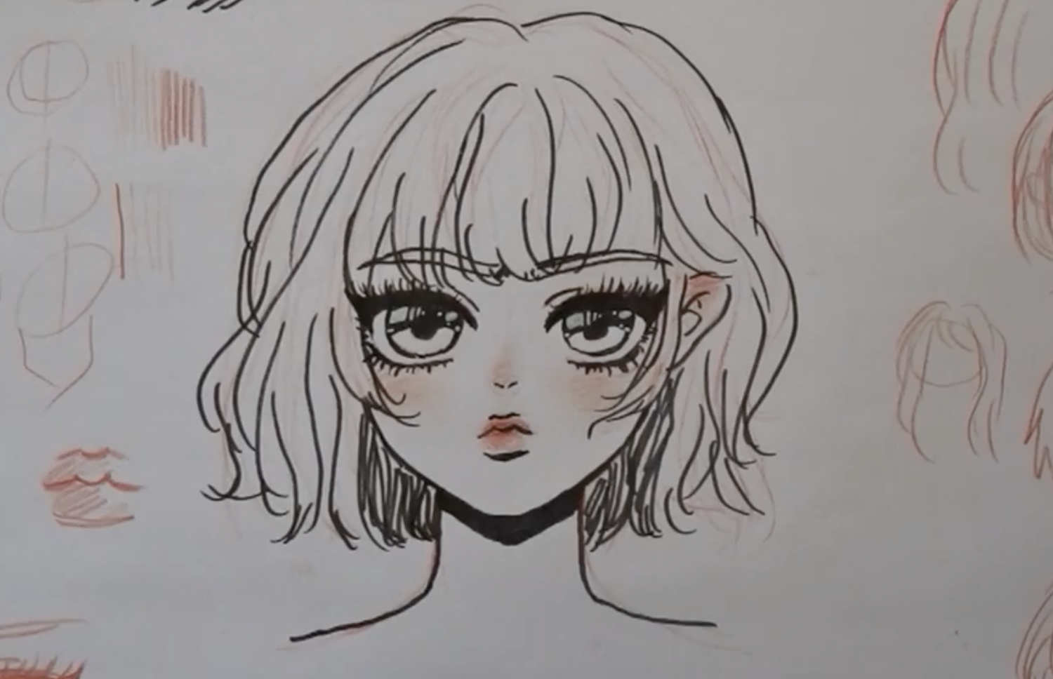 anime lady head