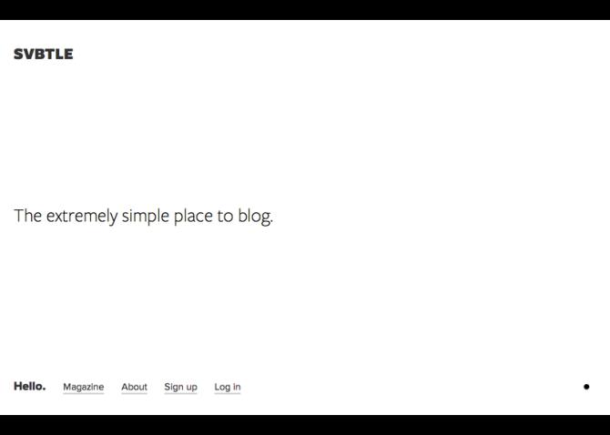 Svbtle best-free-blog-sites