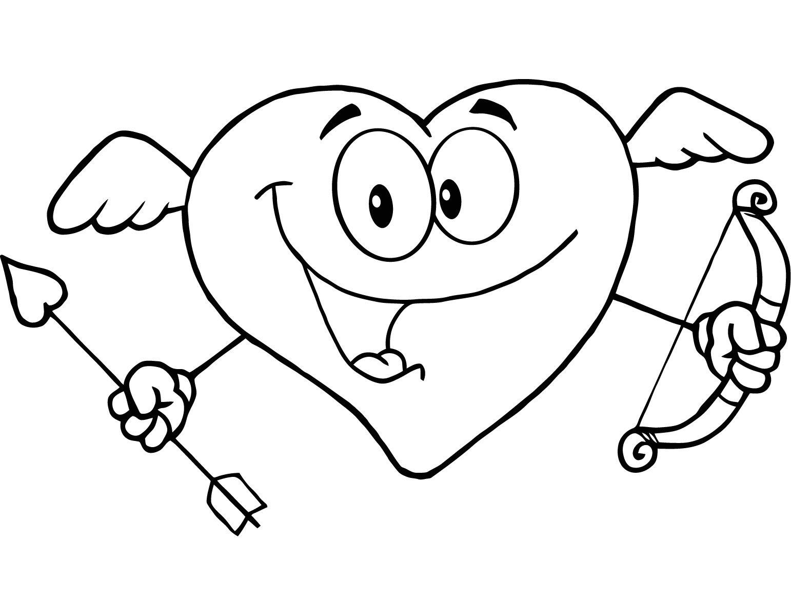 Dibujos de Cupido para Colorear, parte 2