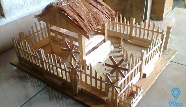 Cara Membuat Rumah dari Stik Es Krim serta Gambarnya
