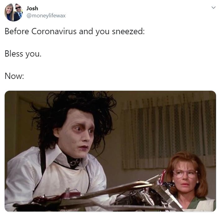 sneeze coronavirus meme