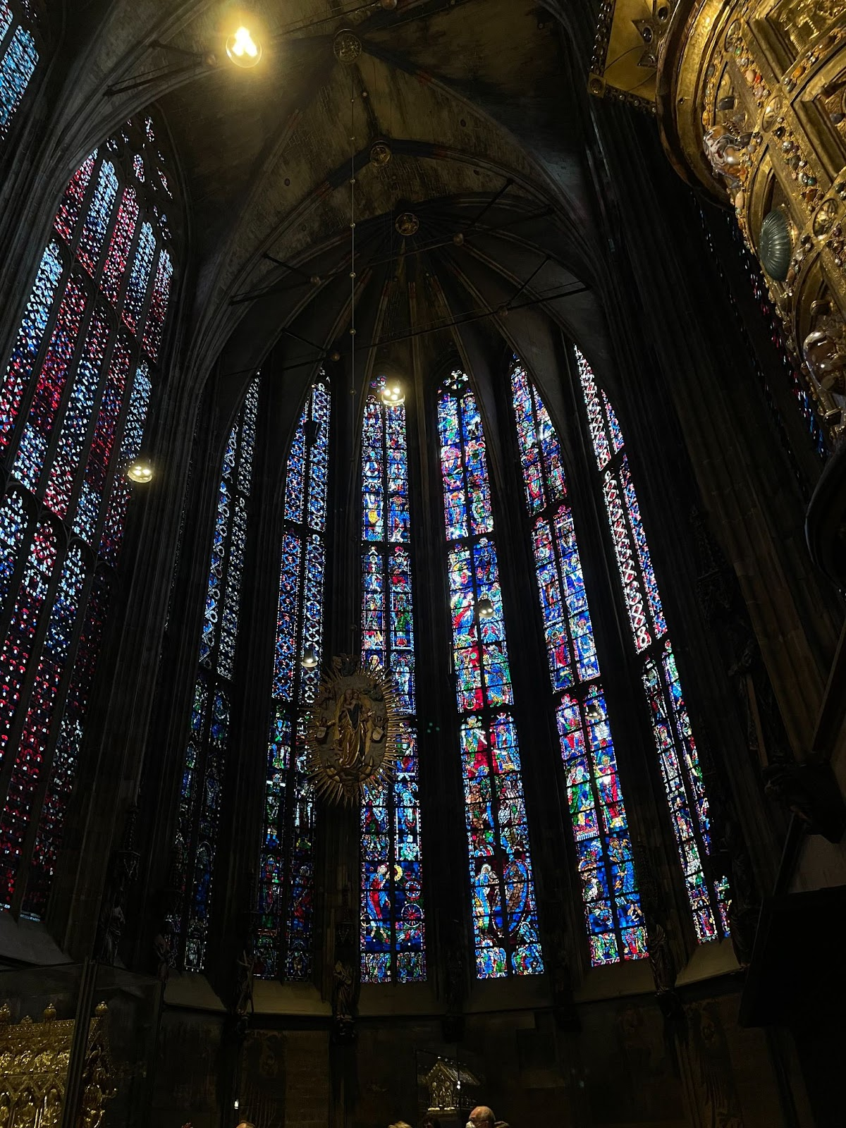 Stained glass in Aachen Cathedral