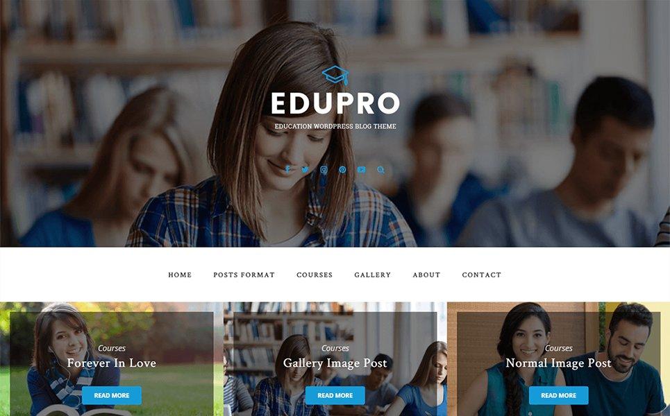 WordPress theme EduPro loading speed