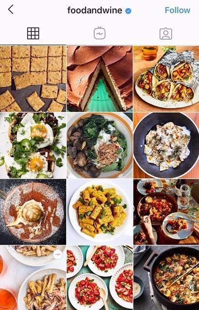 example of good visual branding on Instagram
