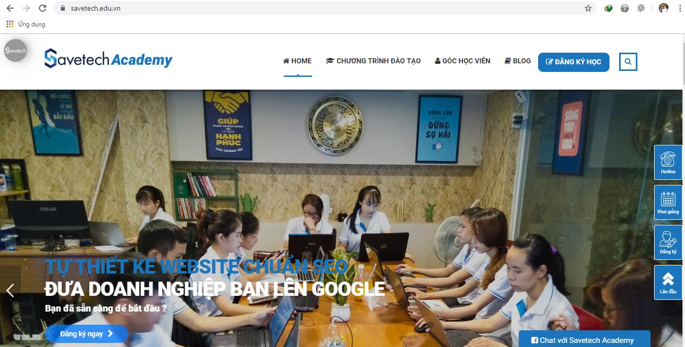 Website trang chủ của savetech