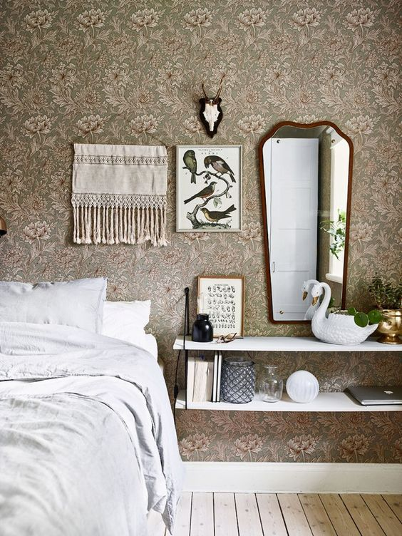 Sophisticated Mix of Furniture and Accessories in Bedroom