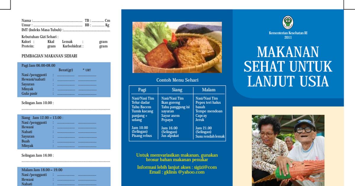 Brosur Makanan Sehat Untuk Lanjut Usia Pdf Google Drive