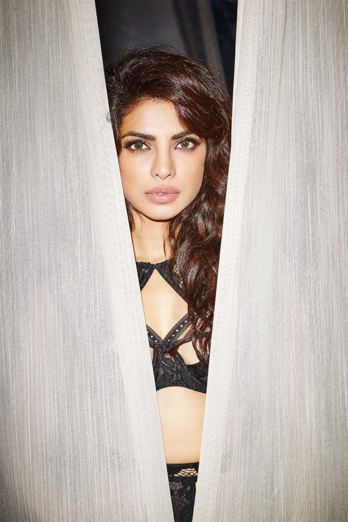 Priyanka Chopra in black Bikini