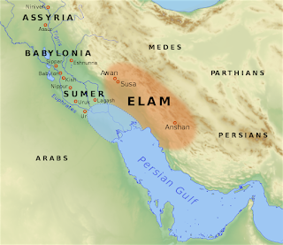 By File:Near East topographic map-blank.svg: SémhurFile:Elam-map-PL.svg: Wkotwicaderivative work: Morningstar1814 - File:Elam-map-PL.svg, CC BY-SA 3.0, https://commons.wikimedia.org/w/index.php?curid=61956849