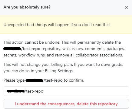 How to delete a GitHub repository