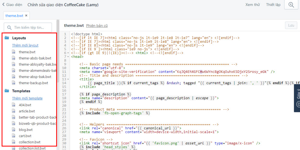Chỉnh sửa giao diện HTML/CSS tối ưu SEO Sapo